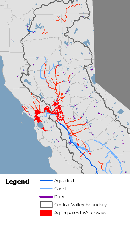 Ag-contaminated rivers in the Central Valley